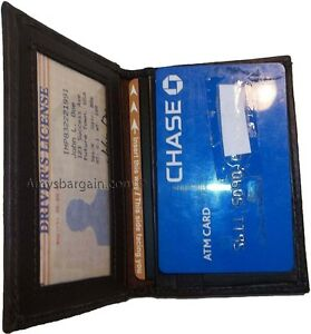 New Leather Business And Credit Card Case Card Holder With 3 Card Slots 3 Ids Bn