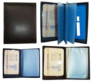 Leather Business Credit Card Id Card Picture Holder 24 50 Card Case Id Windows N