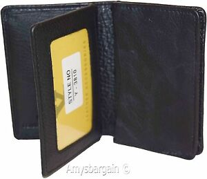 Business Card Case Leather Credit Card Holder Fourty Card Case 2 Id Windows Bn