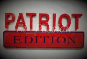 Patriot Edition Red Blue Fit All Cars Truck Boat Logo Hood Custom Emblem Letters Fits 1950 Ford