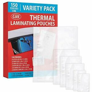 5mil Thermal Laminating Pouches 150 Count Letter Photo Card Notecard Id Bad