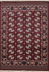 Geometric Traditional Oriental Area Rug Wool Hand Knotted All Over Carpet 3x5 Ft