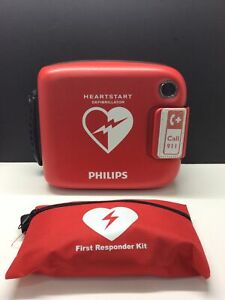 Philips Heartstart Home Defibrillator Aed With Carry Case M5068a c01