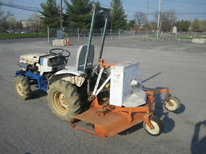 Mitsubishi Mt160d Diesel 3cy 16 5hp Compact Tractor W Woods Rm59 Finish Mower
