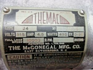 Themac J4 Mcgonegal Mfg Grinder Motor Only 10 000 Rpm Long Shaft