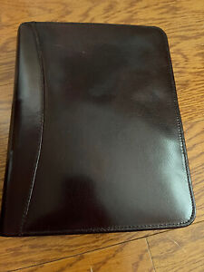 Franklin Covey Binder Planner Oxblood Full Grain Leather 7 1 75 Ring Made Usa
