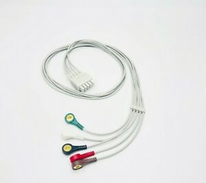 Ge Marquette Dash Pro Tram Leadwires 5 Leads Snap Ecg Cable Same Day Shipping