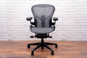 2021 Herman Miller Aeron Remastered Chair Size B Fully Loaded With Posture Fit
