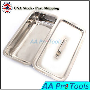 Surgical Instruments Sterilization Tray Box With Lid Size 8 x6 x2 Ss
