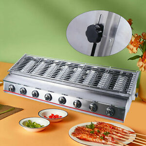 8 Burner Cooking Gas Bbq Barbecue Grill Lpg Commercial Stainless Steel Gas Grill