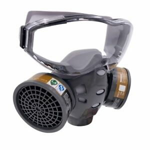 Full Face Gas Mask With Safety Glasse Spray Paint Chemical Pesticide De Hxjbus