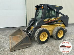 2002 New Holland Ls170 Skid Steer Erops Aux Hyd Pre emissions Hvac 1933 Hrs