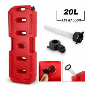 5 Gallon 20l Fuel Pack Gas Can Spare Fuel Container W Spout Red Off Road Atv