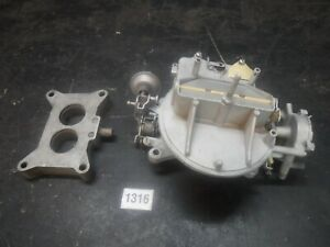 68 Ford Mustang 302 Autolite 2100 2 Bbl Carburetor W C4ae 9a589 D Base Plate 2v