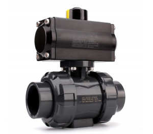 Prm New 3 Inch Pneumatically Actuated Upvc True Union Ball Valve
