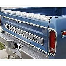1973 1979 Ford Truck F 100 F 150 Tail Light Stainless Trim L R