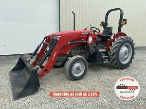 2019 Massey Ferguson 2604h Tractor W Loader 2 Post Rops 2wd 540 Pto 360 Hrs