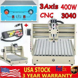 3 Axis 3040t Cnc Router Engraver Machine Woodworking Milling Machine 3d Rc 400w