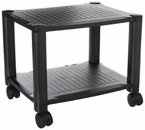 Printer Stand With Wheels 2 Tiers Shelf Small Under The Desk Machine Stand