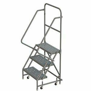Tri arc Kdsr103246 3 step Steel Rolling Industrial And Warehouse Ladder With
