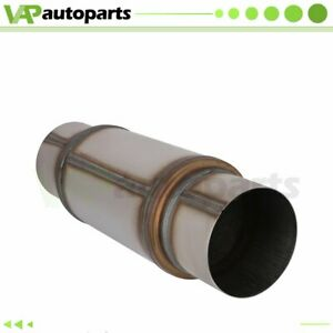 5 Inlet Outlet Stainless Exhaus Muffler Resonator 18 Inch Total Length