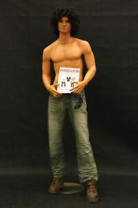 Adult Tan Male Realistic Fiberglass Standing Full Body Mannequin With Base