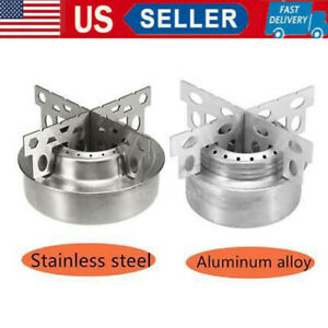Outdoor Camping Stove Mini Alcohol Stove With Cross Stand Rack Burners Usa G4s9