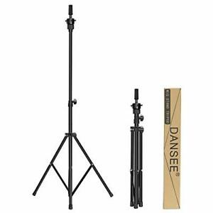 Wig Stand Tripod Mannequin Head Stand Adjustable Wig Head Stand For Black