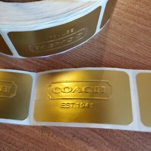 20 Authentic Coach Gift Boxes Gold Labels 2 Each