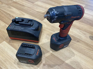 Snap On 14 4v 3 8 Cordless Impact Gun Wrench Battery Charger Ctb4147 Set