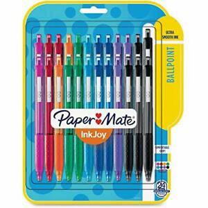 Paper Mate 1945926 Inkjoy 300 Rt Retractable Ballpoint Pen 1mm Assorted 24 pack