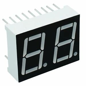 5 X Red 0 56 2 Digit Seven 7 Segment Display Common Anode Led