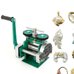 Pro Rolling Mill Machine Rollers Metal Wire Flat Jewelry Tool Manual Combination
