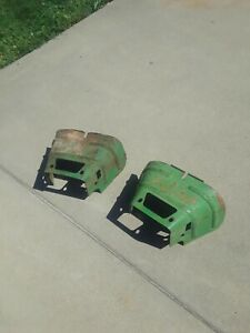 Vintage John Deere Tractor Pto Shield covers used 2 Pcs 520 530 620 630 720 730