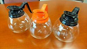 Coffee Pot decanter Blk org 64oz Commercial Lot Of 3 Coffee Pots For Bunn Brewer