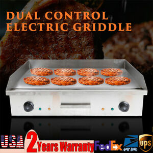 4400w Commercial Electric Countertop Griddle Flat Top Grill Hot Plate Cook Bbq