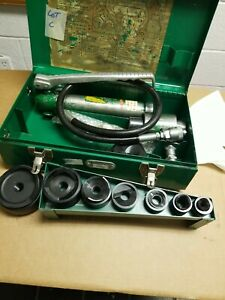Greenlee 767 a Hydraulic Knockout Punch Driver Set 1 2 3 767 a Pump And Ram