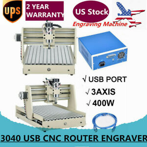 3040 3axis 400w Engraving 3d Drilling Milling Cnc Router Engraver Kit Usb Port
