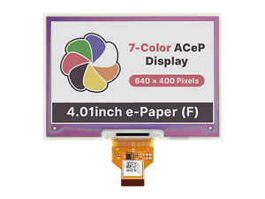 4 01inch Acep 7 color E paper E ink Raw Display 640 400 Without Pcb Waveshare