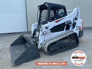 2020 Bobcat T595 Track Loader Orops Aux Hyd Hand foot Controls 421 Hours