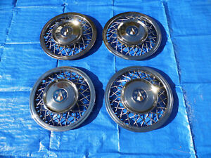 Rare Set Of 1948 1954 Hudson 15 Inch Wire Wheel Covers Hubcaps