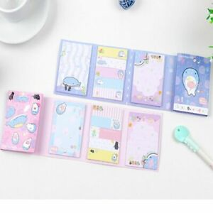 Office Supplies Folding Sticky Cute Notepad Whale Series Memo Pad Bookmark