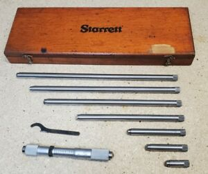 Starrett No 823 Inside Micrometer 4 To 24 With Wooden Protective Case