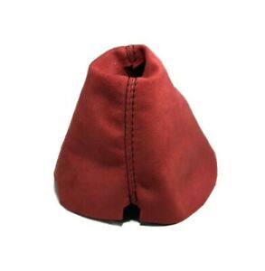 Fits 09 Nissan 370z Shift Boot Red Suede Black Stitching