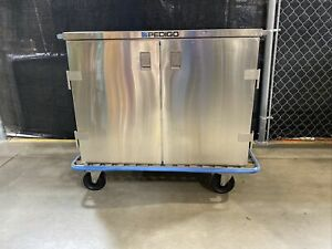 Pedigo Case Cart Steril gard Surgical Double Door Stainless Steel pull Out Shelf