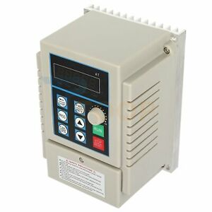 Vfd Single To 3 Phase 3a 220v 0 6hp 0 45kw Variable Frequency Drive Inverter