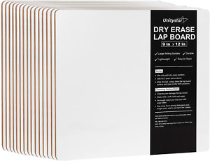 Unitystar Dry Erase Board 9 X 12 Inches Small White Boards Kids Students Set