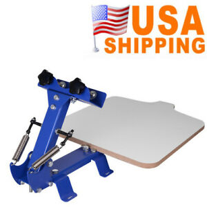Easy Use 1 Station Area Silk Screen Printing Press Machine 21 7x17 7 In Portable