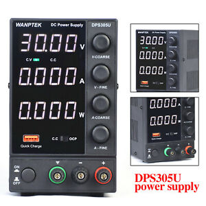 Bench Power Supply Variable 0 30v 0 5a Adjustable Switching Regulated 110v Hot