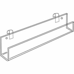 Gridwall Display Tray 23 3 4 With Closed Ends And Tilt